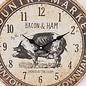 Saramax Wanduhr Bacon & Ham Retro Vintage Design