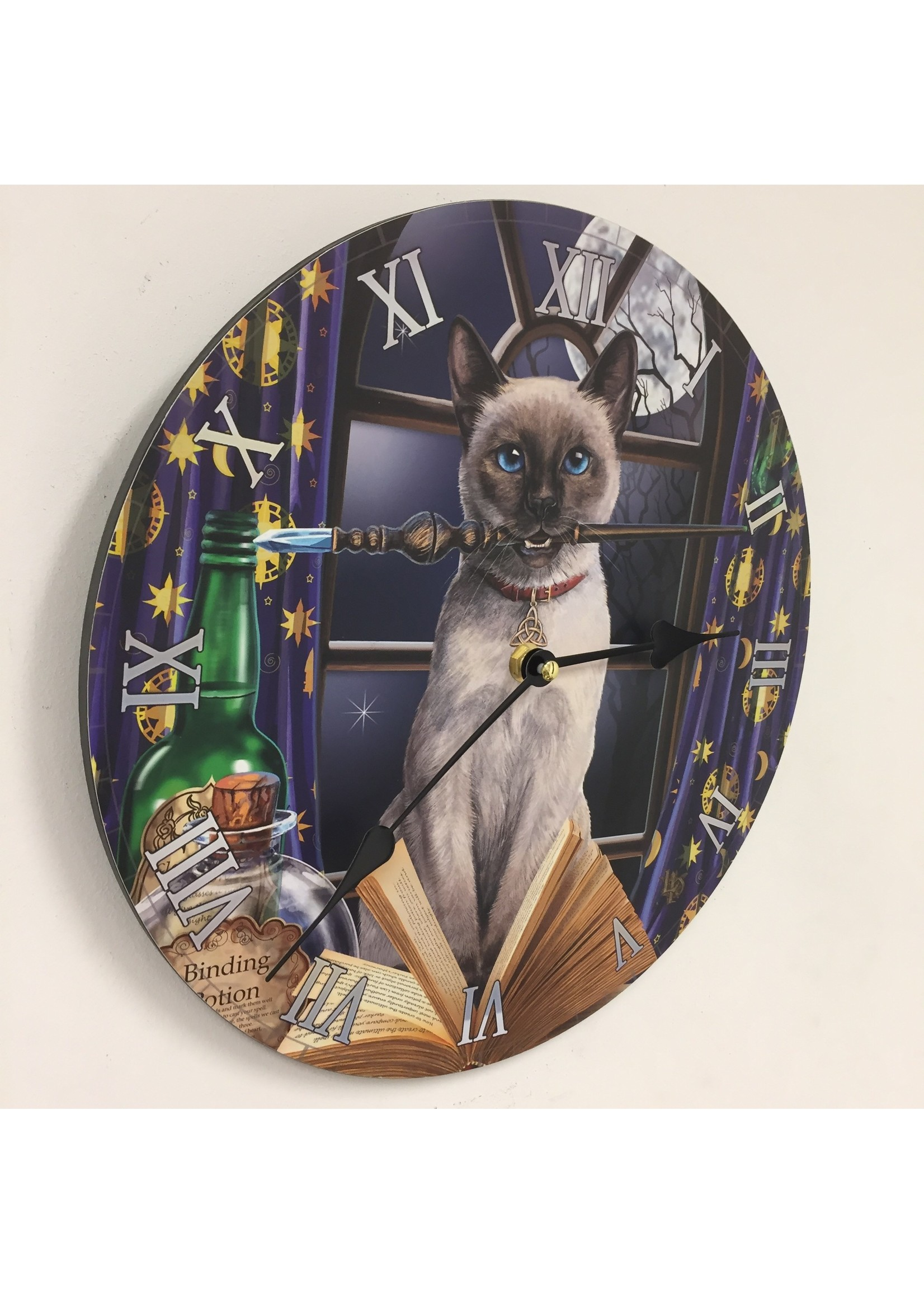 Wandklok MAGIC CAT voor kinderen