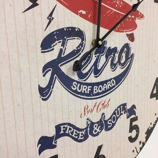 Saramax Wandklok CALIFORNIA SURFING RETRO DESIGN
