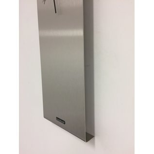 Klokkendiscounter Wandklok LaBrando zilver morden design