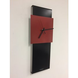 Klokkendiscounter Wanduhr LaBrand Export Design Schwarz Brilliant Red Dutch Design