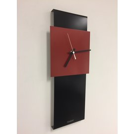 Klokkendiscounter Wanduhr LaBrand Export Design Schwarze & RED Modernes Dutch Design