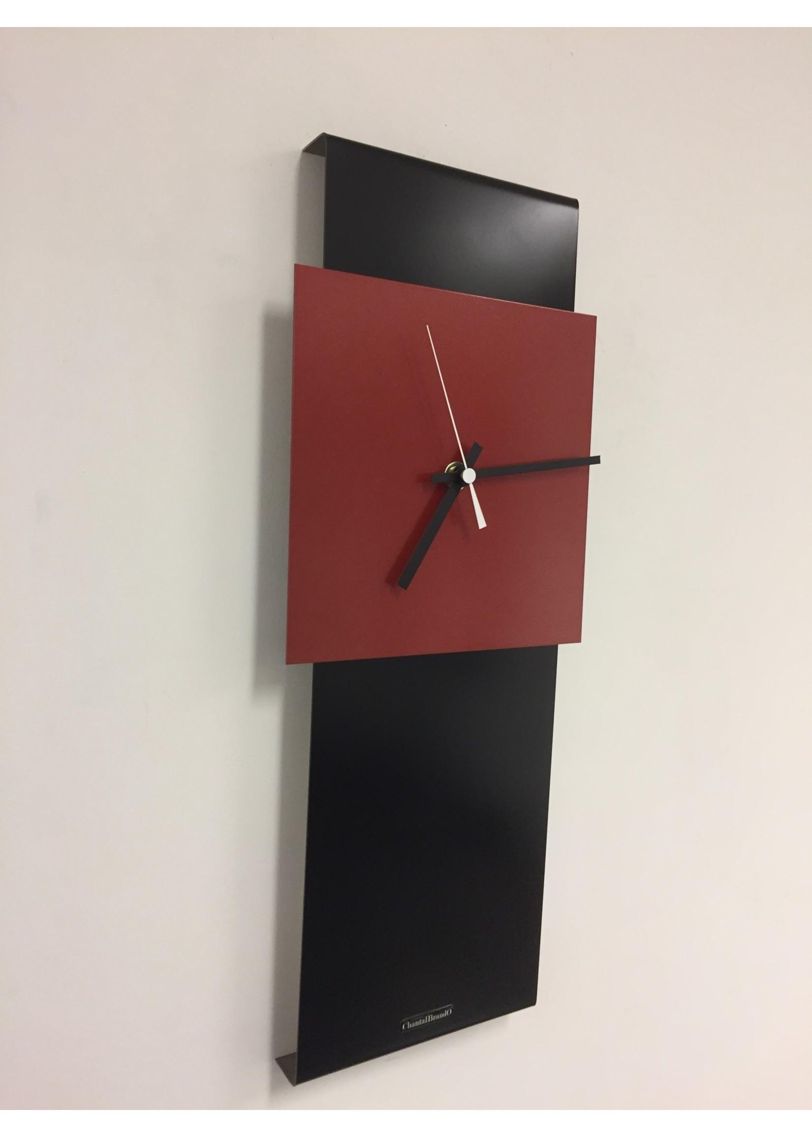 Klokkendiscounter Wandklok LaBrand Export Design Black & RED Modern Dutch Design