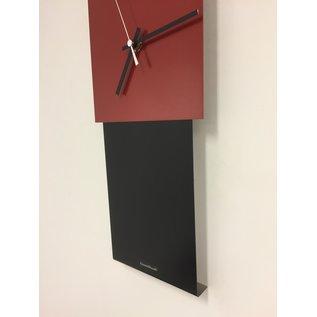 Klokkendiscounter Wanduhr LaBrand Export Design Black & RED Modern Dutch Design