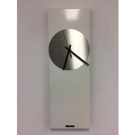 Klokkendiscounter Wanduhr LaBrand Export Linie WHITE & SILVER Modern Dutch Design