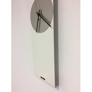 Wandklok LaBrand Export Line WHITE & SILVER Modern Dutch Design