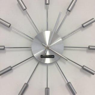 ChantalBrandO Wandklok Silver SUN modern design