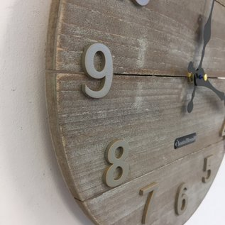 Klokkendiscounter Wandklok Barn Wood /La Grange Vintage Design