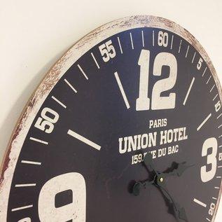 Saramax Wanduhr UNION HOTEL ZWART RETRO INDUSTRIEEL DESIGN