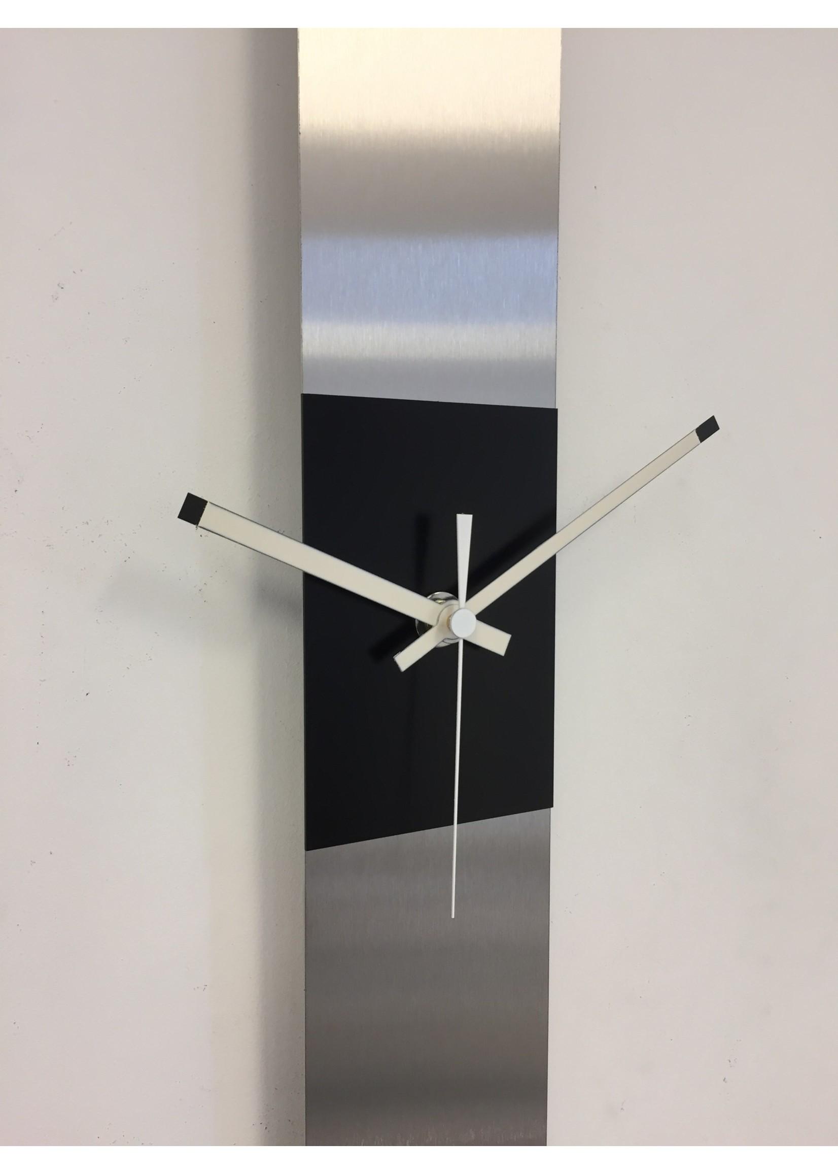 Klokkendiscounter Wandklok SUMMIT BLACK SQUARE MODERN DUTCH DESIGN