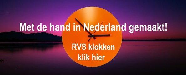 In Nederland gemaakte RVS wandklokken