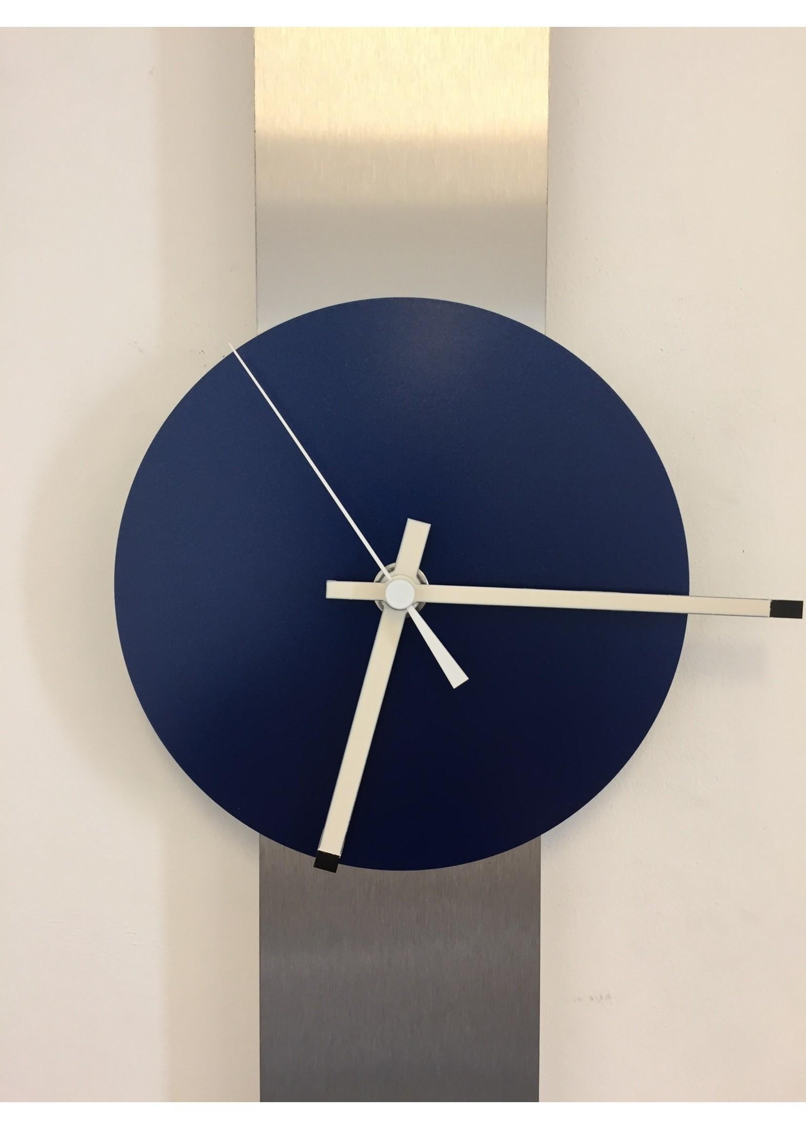 Klokkendiscounter Wandklok SUMMIT BLUE DUTCH MODERN DESIGN