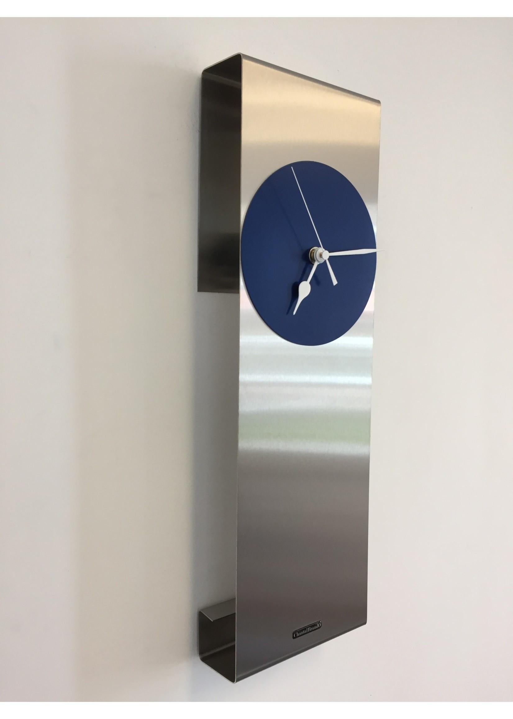 Klokkendiscounter Wandklok Mahattan Blue Modern design