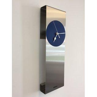 Klokkendiscounter Wanduhr Mahattan Blau Modern Design
