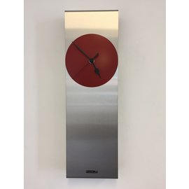 Klokkendiscounter Wanduhr Manhattan RED & BLACK Moderne Dutch Design