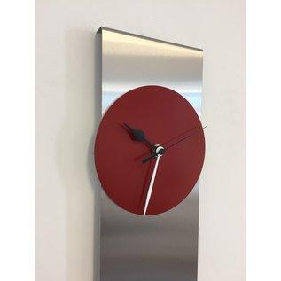 Klokkendiscounter Wanduhr ORION B & W RED Modernes Dutch Design