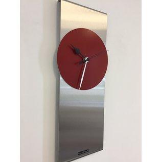 Klokkendiscounter Wandklok ORION RED B&W Modern Dutch Design