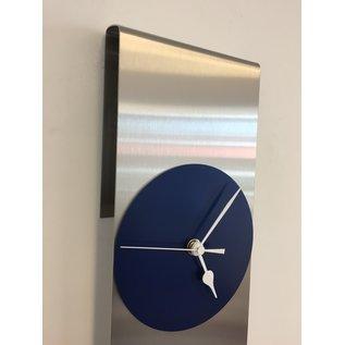 Klokkendiscounter Wandklok SKY-SCRAPER BLUE Modern Dutch Design