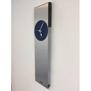 ChantalBrandO Wandklok SKY-SCRAPER BLUE Modern Dutch Design