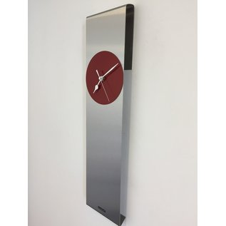 Klokkendiscounter Wandklok Sky-Scraper New York RED Modern Dutch Design