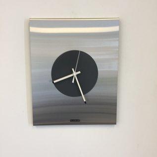 Klokkendiscounter Wanduhr Time Square in New York Grau Modern Dutch Design