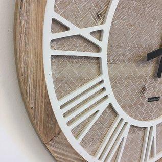 Klokkendiscounter Wanduhr ROMAN WOOD modernes Design