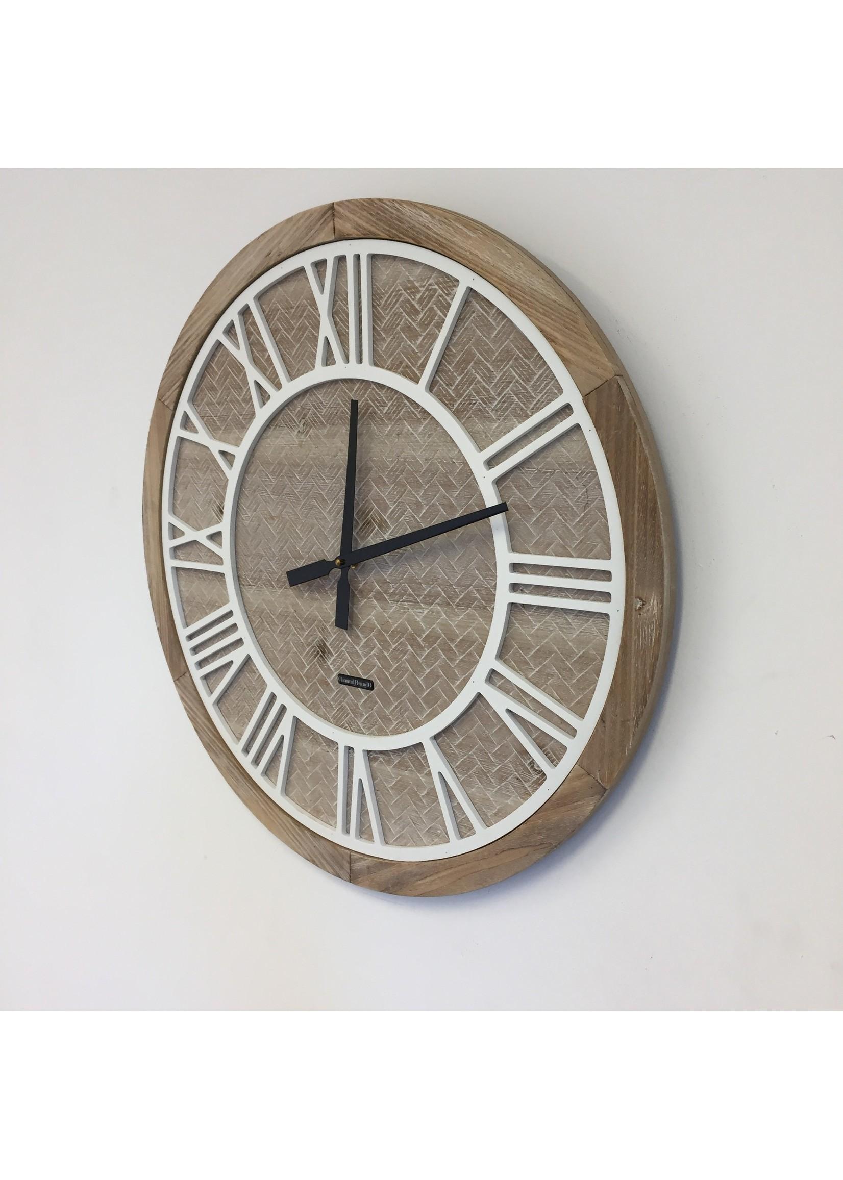 Klokkendiscounter Wandklok ROMAN WOOD modern design