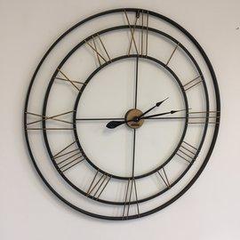 Klokkendiscounter Wandklok IRON XXL Industrieel modern design