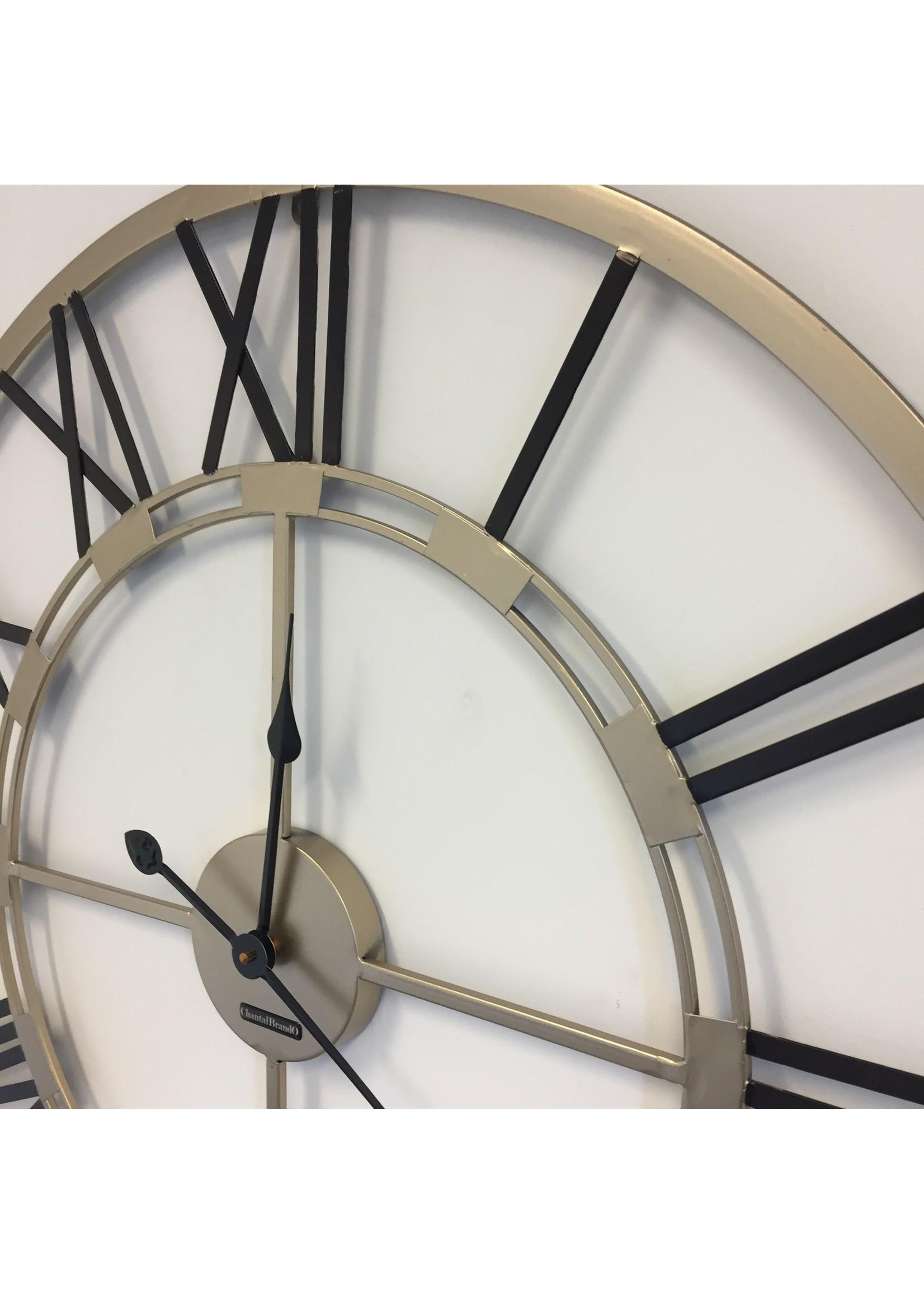 Klokkendiscounter Wandklok Black & Gold Industrieel modern design