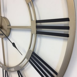 Klokkendiscounter Wanduhr Black & Gold Industrie modernes Design