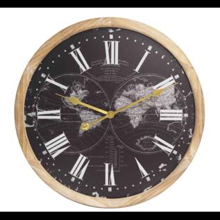 Klokkendiscounter Wanduhr Schwarz Modern World Industrial Design