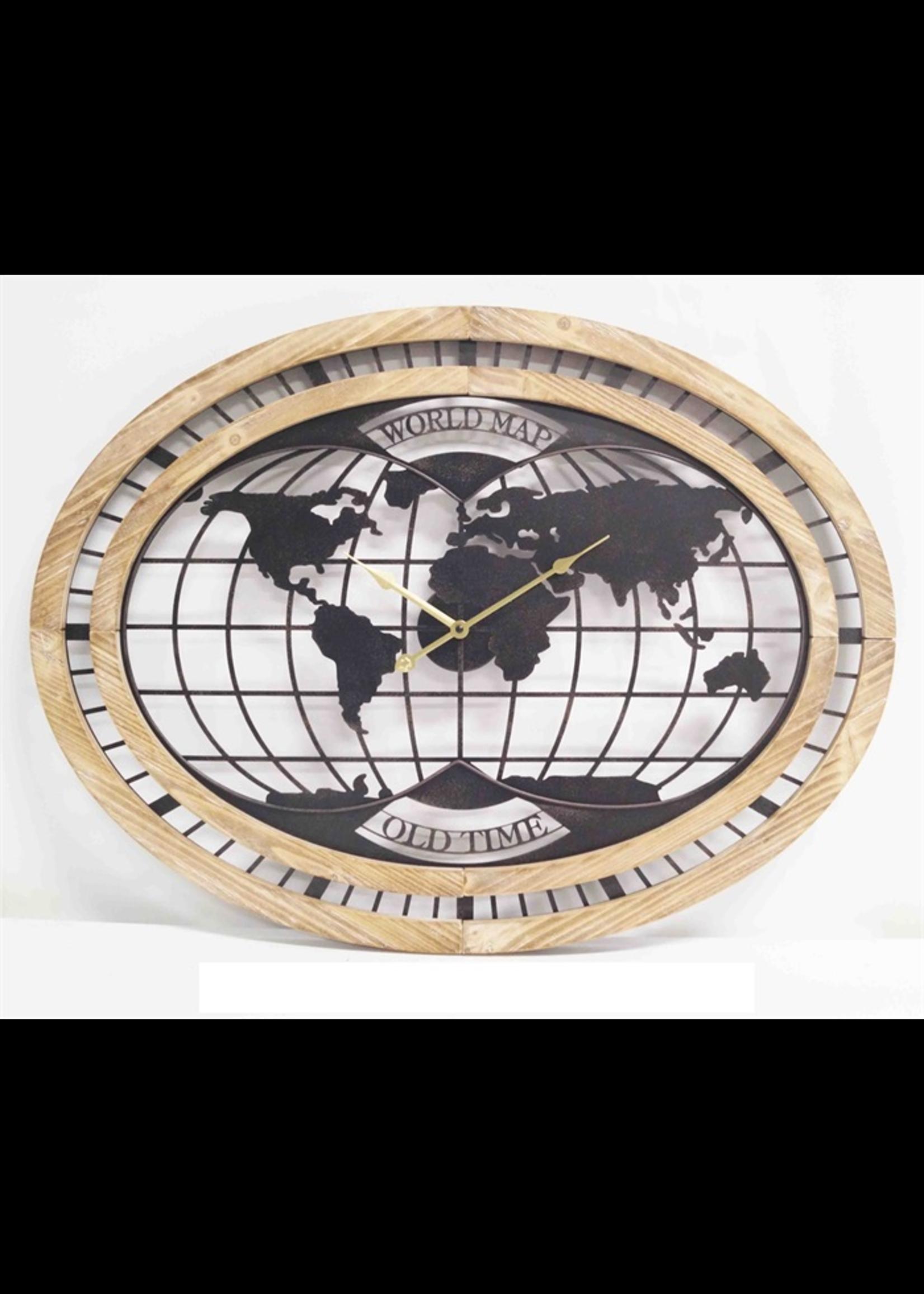 Klokkendiscounter Wandklok World Map Modern Industrieel Design