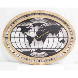 Klokkendiscounter Wanduhr Weltkarte Modernes Industrial Design