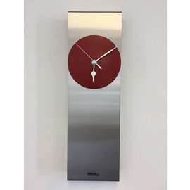 Klokkendiscounter Wandklok Manhattan RED Modern Dutch Design