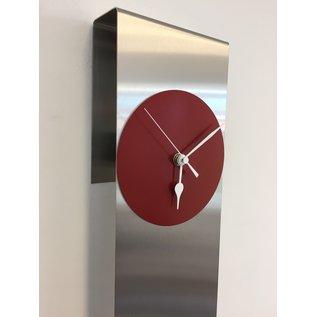 Klokkendiscounter Wandklok Manhattan RED Modern Dutch Design