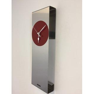 Klokkendiscounter Wanduhr Manhattan RED Modernes Dutch Design