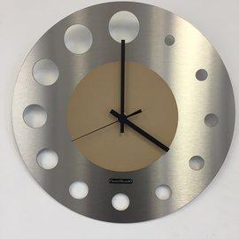 Klokkendiscounter Wanduhr Junte Brussel  Atomium BEIGE Modernes Design