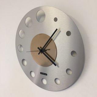 Klokkendiscounter Wanduhr Junte Brussel  Atomium GOLD Modernes Design