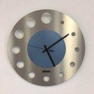 ChantalBrandO Wandklok JUNTE BRUSSELS ICE BLUE Modern Design