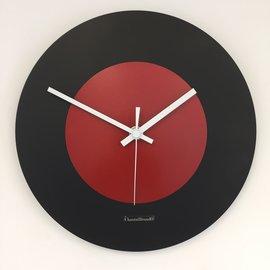 Klokkendiscounter Wanduhr Black & RED modernes Niederlandisches  Design
