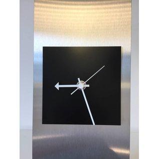Klokkendiscounter Tischuhr Yara schwarzes Quadrat