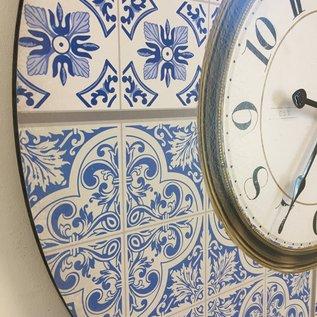 NiceTime Wandklok DUTCH DESIGN BLUE