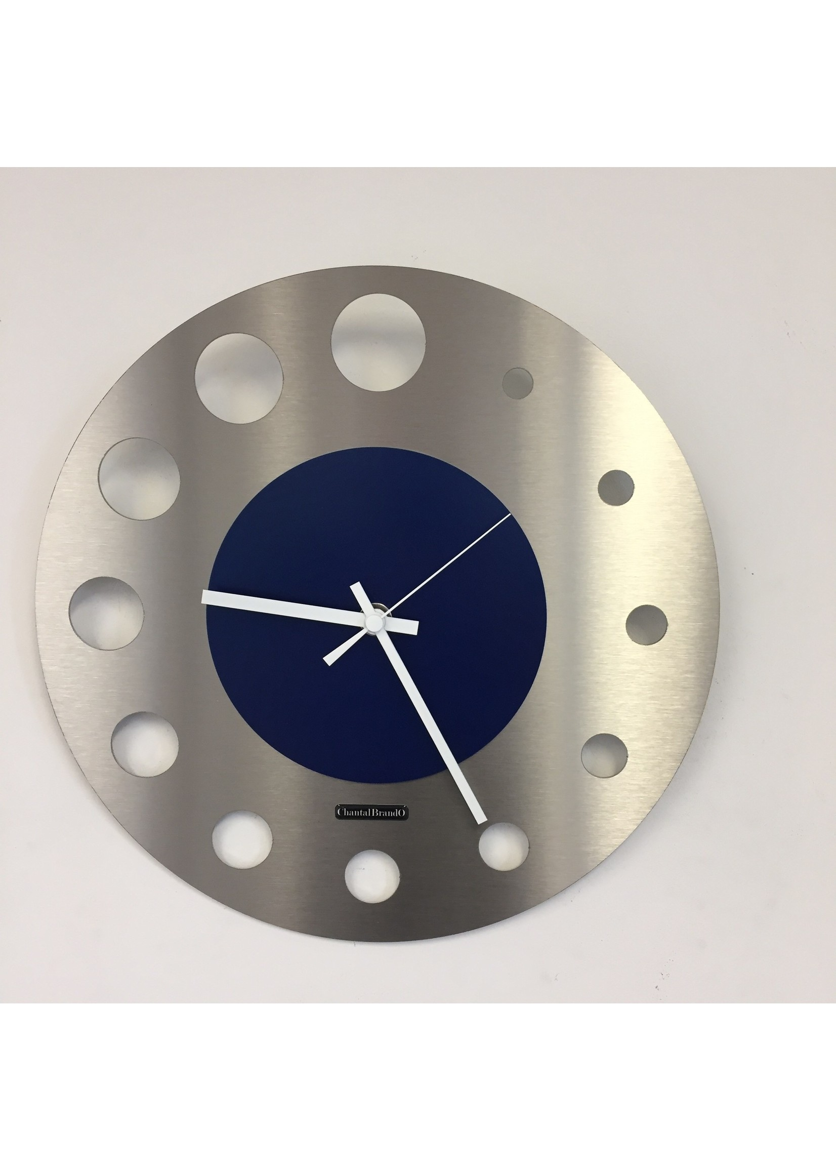 ChantalBrandO Wandklok JUNTE BRUSSEL ATOMIUM BlUE Modern Design