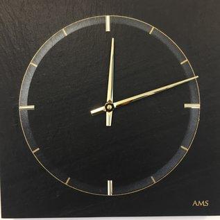 AMS Wandklok NATURA BLACK STONE Modern Design