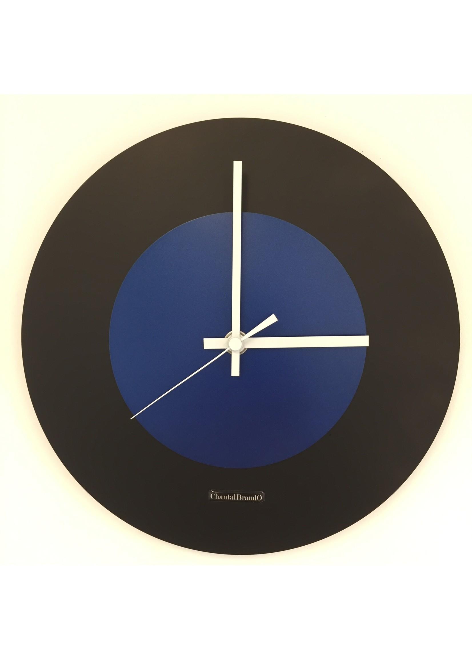 ChantalBrandO Wandklok Black & Blue modern Dutch Design