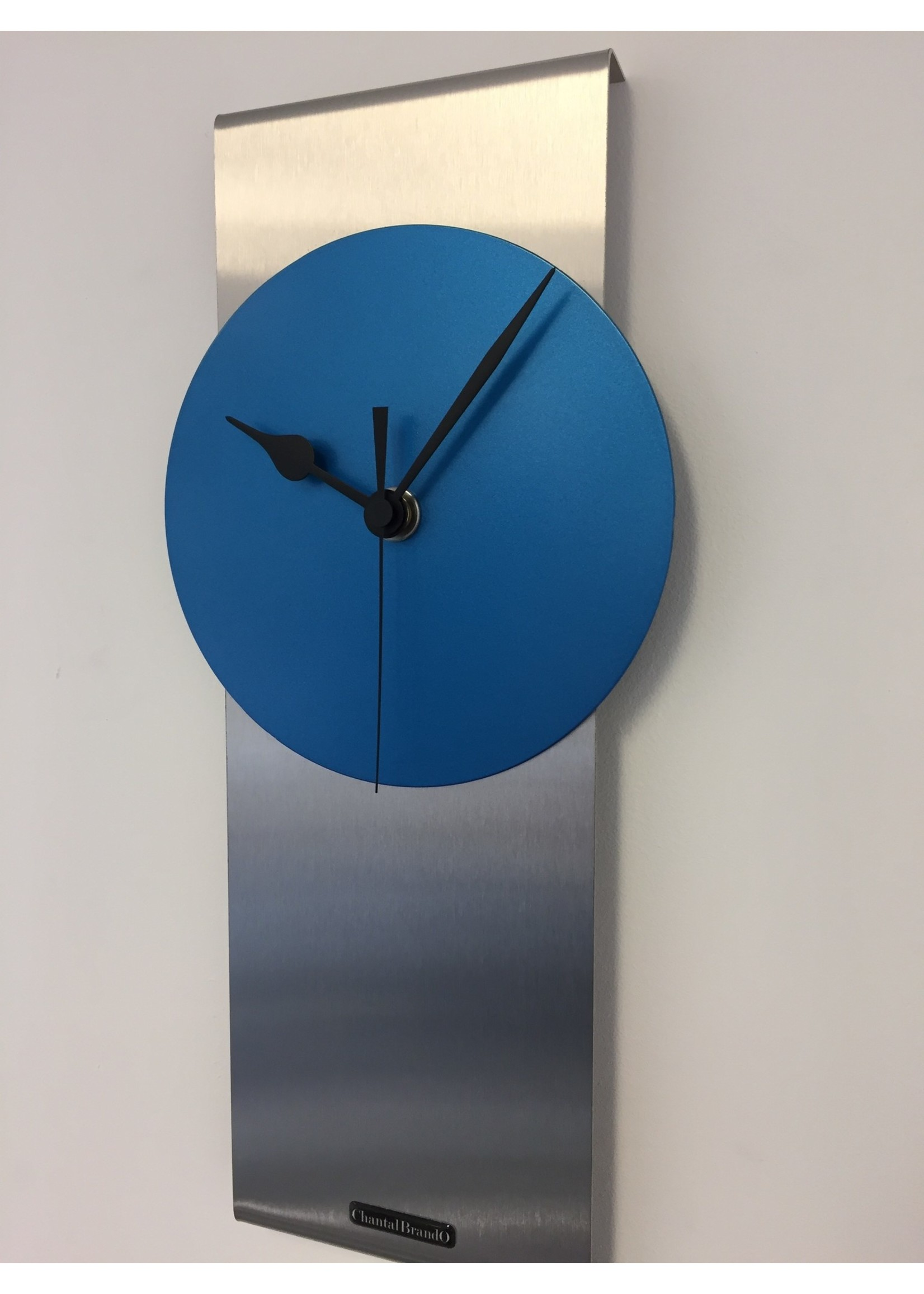 ChantalBrandO Wandklok ChantalBrando ARTIC BLUE modern design
