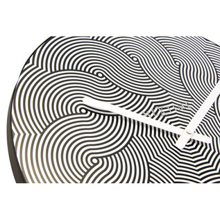NXT Wandklok ABSTRACT Black & White Modern Design