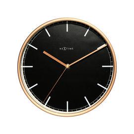 NXT Wandklok Black & Copper modern design