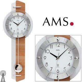 AMS Wandklok AMALFI Beuken hout design