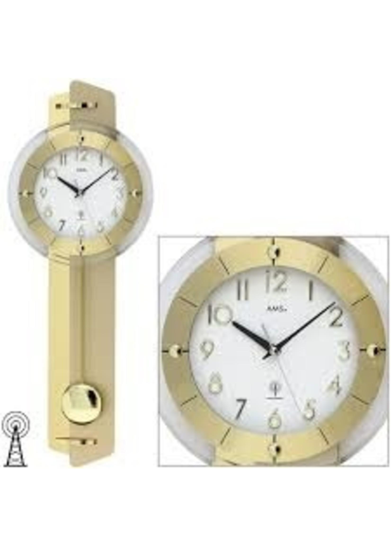 AMS Wandklok AMALFI  GOLD design
